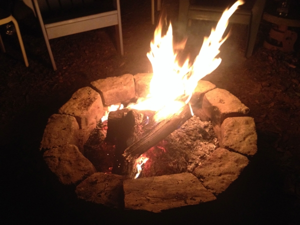Fireside, the night before the snow