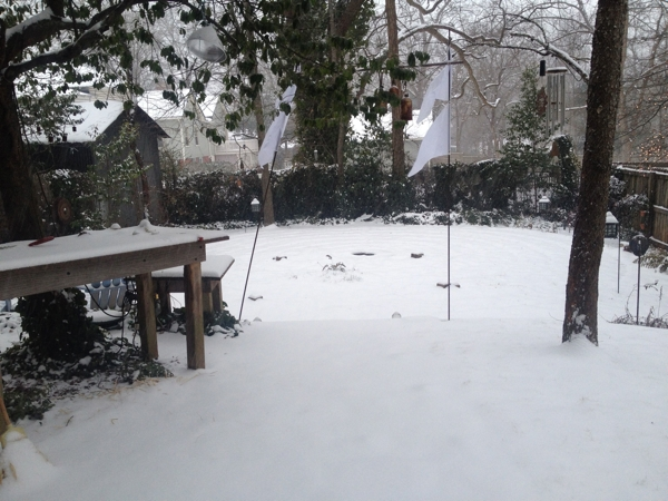 the Labyrinth in snow