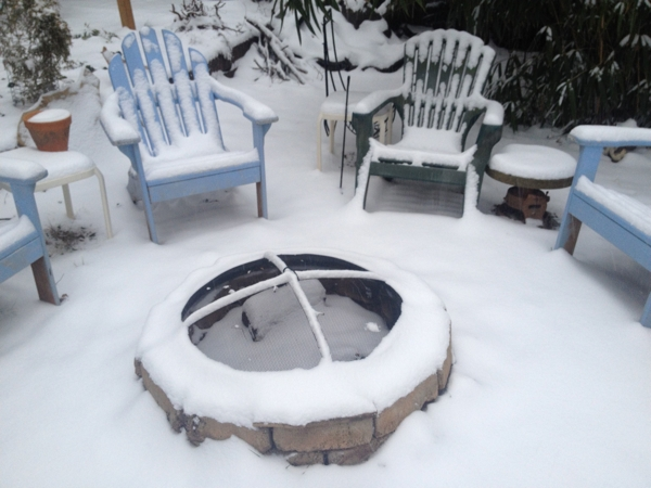The firepit in snow